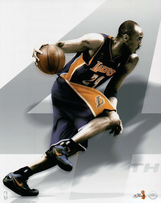 Kobe Bryant Unsigned 8X10 Photo Photograph White NBA Finals UDA Custom Design