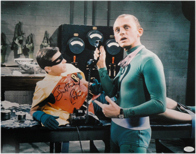 "Burt Ward Hand Signed Autographed 16X20 Photo Batman ""Robin"" w/ Riddler JSA"