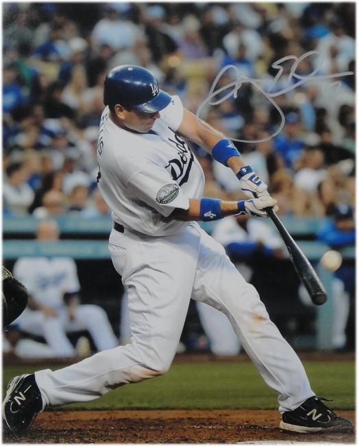 AJ Ellis Hand Signed 11x14 Photo Los Angeles Dodgers At Bat W/ COA A.J.