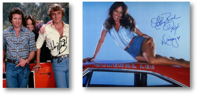 Bach Tom Wopat Schneider Signed Autographed Photo Lot Dukes of Hazzard w/COAs
