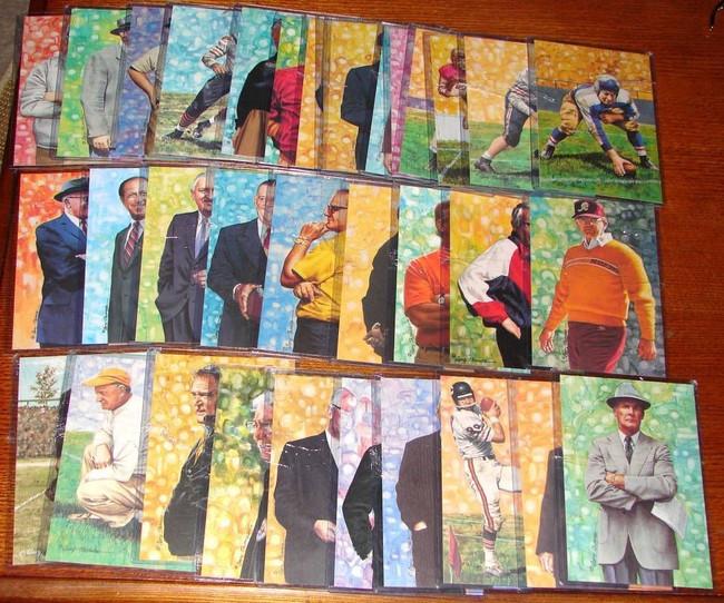 33 CARD LOT OF 1989-2005 GOAL LINE ART 4 x 6 HOF CARDS