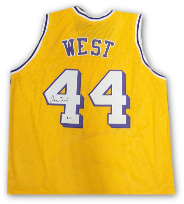 Jerry West Hand Signed Autographed #44 Yellow Jersey Los Angeles Lakers Beckett