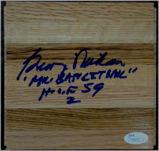 George Mikan Signed Piece of Wood Floorboard Los Angeles Lakers MPLS JSA COA