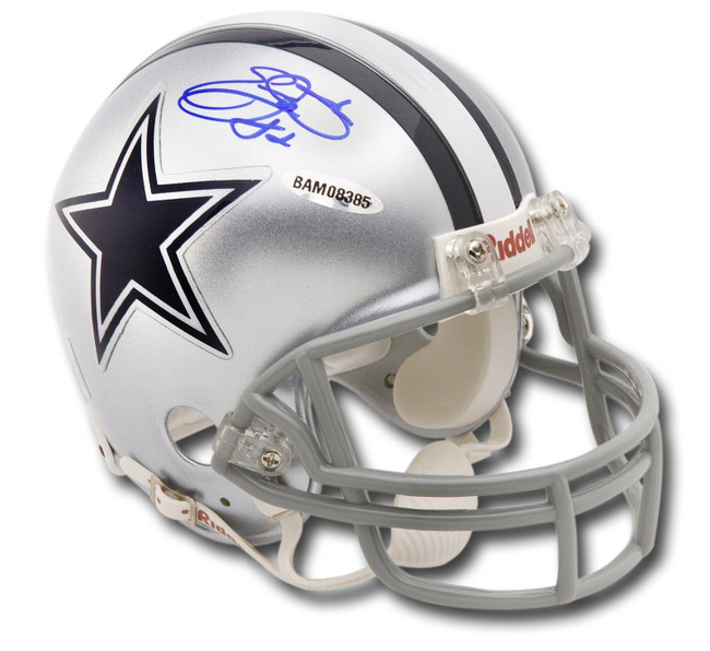 Emmitt Smith Hand Signed Autographed Riddell Mini Helmet  Cowboys UDA