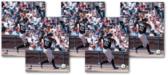 5 Count Lot Clint Barmes Signed 8X10 Photos Autograph Rockies Batting COA