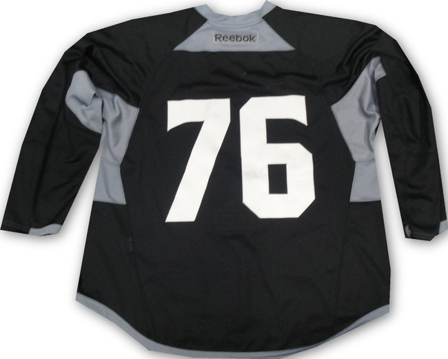 Los Angeles Kings Game Used Practice Jersey Black McDonalds Patch Reebock #76