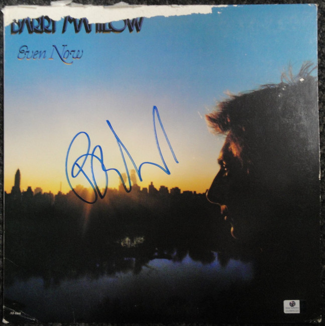 Barry Manilow Signed Autographed Album Cover Even Now Legendary Singer GV865020