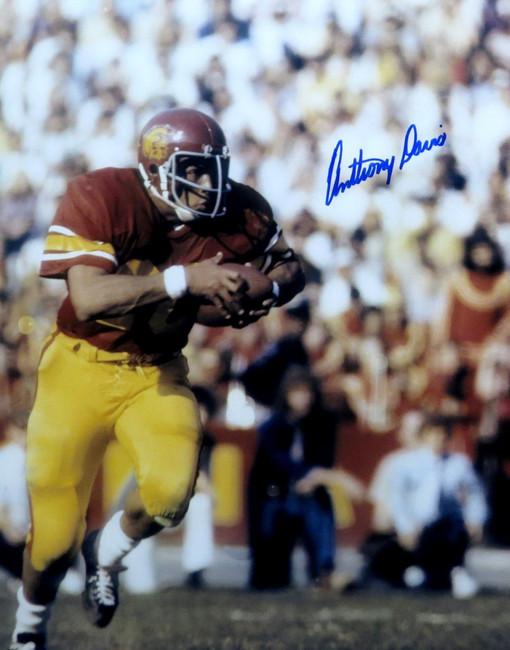 Anthony Davis Signed Autographed 16X20 Photo USC Trojans Legend Running w/COA