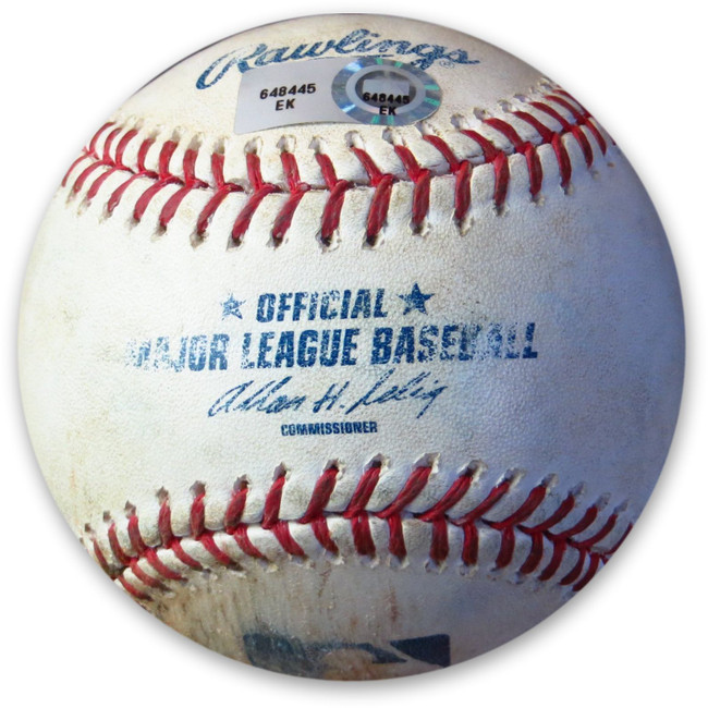 Brandon League Game Used Baseball 6/1/2014 Strike Out Dodgers Barmes EK648445