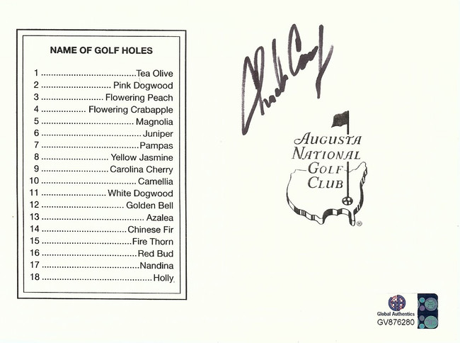 Charles Coody Signed Autographed Masters Augusta National Score Card  GV876280