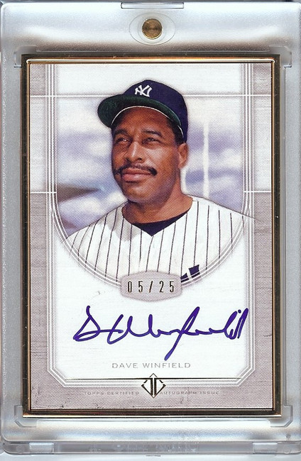 Dave Winfield 2017 Topps Transcendent Framed Auto Autograph Yankees #TCA-DW 5/25