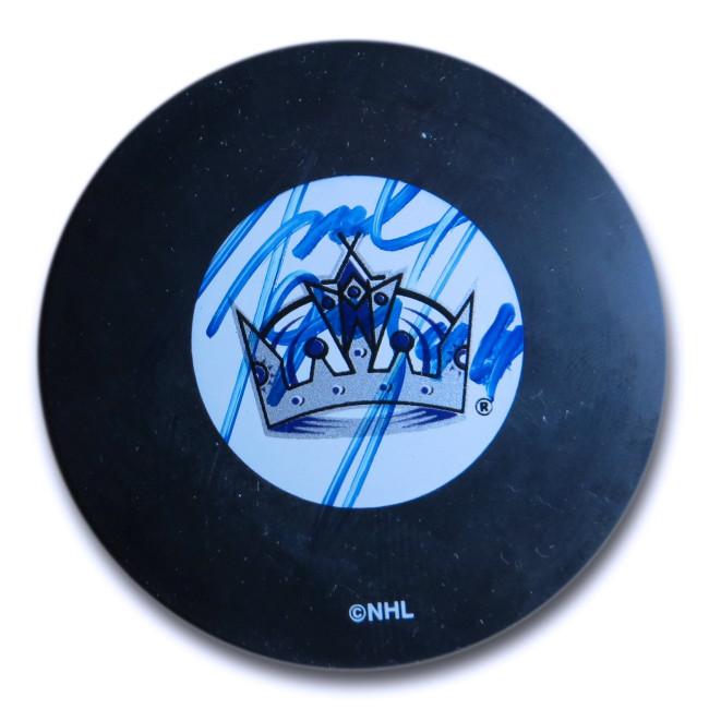 Jaroslav Modry Signed Autographed NHL Puck Los Angeles Kings Blue Ink w/COA