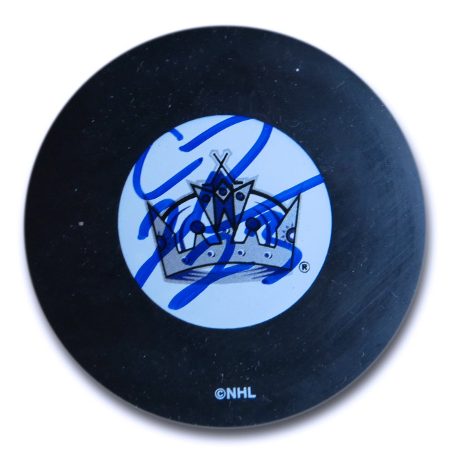 Craig Johnson Signed Autographed NHL Puck Los Angeles Kings Blue Ink w/COA