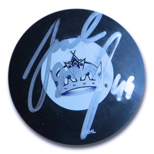 Jaroslav Modry Signed Autographed NHL Puck Los Angeles Kings Silver Ink w/COA