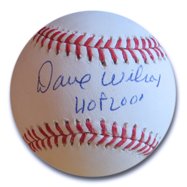 "Dave Wilcox Signed Autographed MLB Baseball SF 49ers Legend ""HOF 2000"" w/COA"