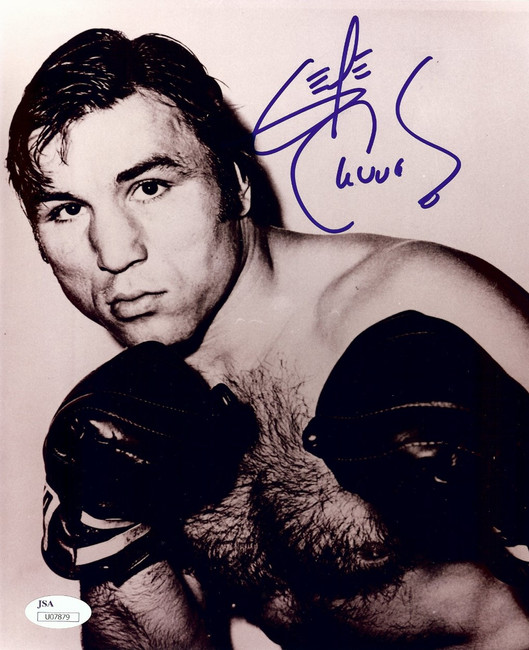 George Chuvalo Signed Autographed 8X10 Photo Boxing Vintage Close-Up JSA U07879