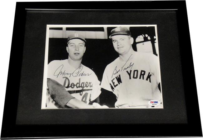 Johnny Podres Hand Signed Autographed 8x10 Photo Custom Framed PSA/DNA Dodgers