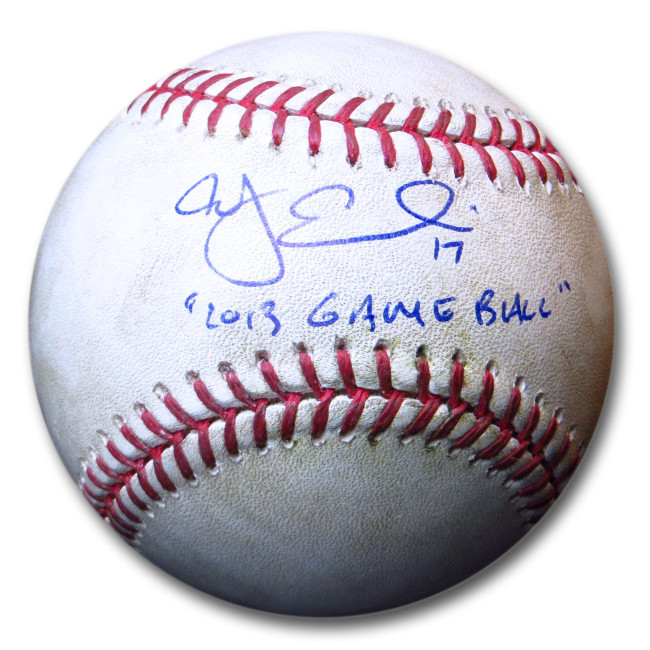 A.J. Ellis Signed Autographed 2013 Game Used Baseball Dodgers JSA S37994