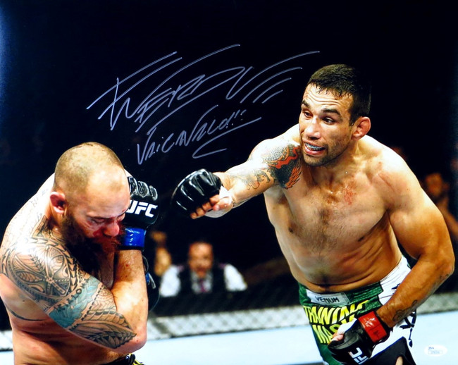 Fabricio Werdum Signed Autographed 16X20 Photo UFC Champ Action Shot JSA
