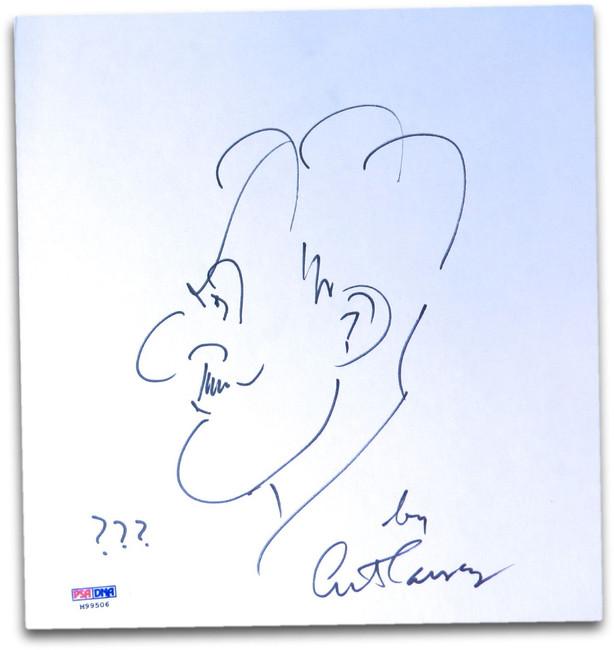 Art Carney Signed Autographed Original Drawing/Sketch Autograph PSA/DNA M99506