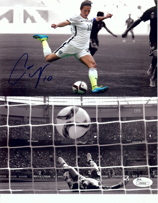 Carli Lloyd Signed Autographed 8X10 Photo Soccer Star Team USA JSA COA