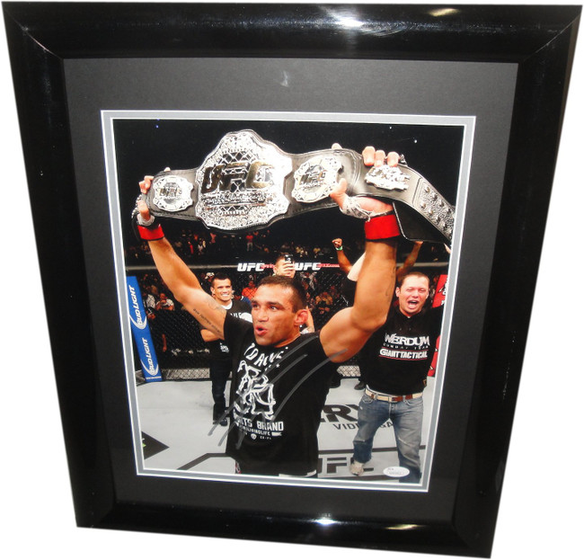 Fabricio Werdum Hand Signed Autograph 11x14 Photo Champion Belt JSA W894802