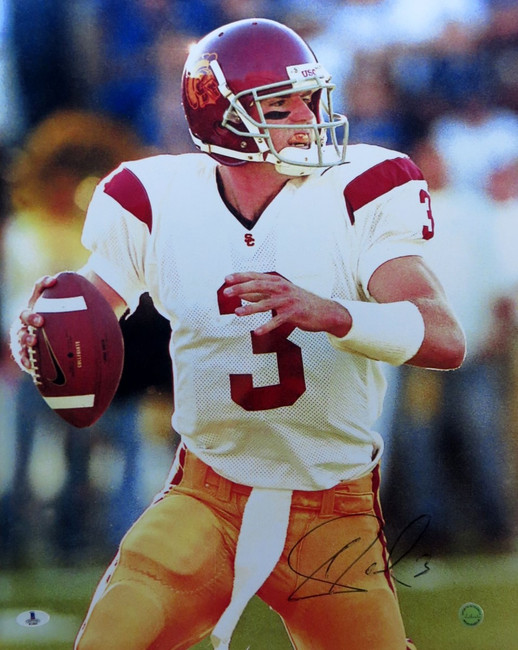 Carson Palmer Signed Autographed 16X20 Photo USC Smearing in Auto Beckett B14065
