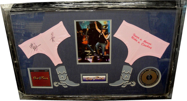 Big & Rich Hand Signed Autographed Panties CUSTOM FRAMED Save a Horse GA 731202