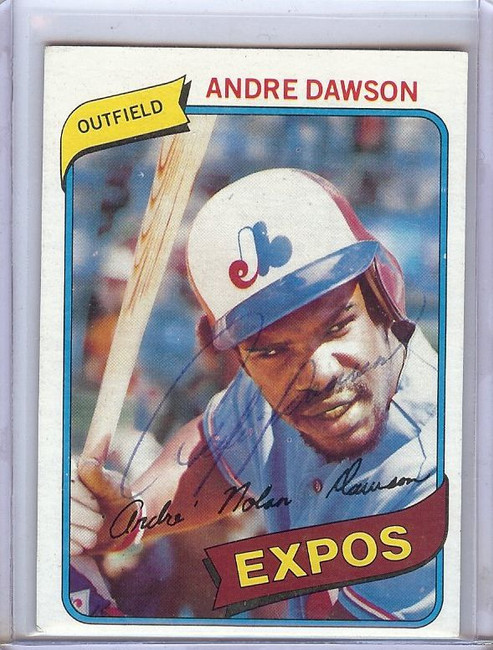 Andre Dawson Signed Autographed Trading Card 1980 Topps Expos GX31110