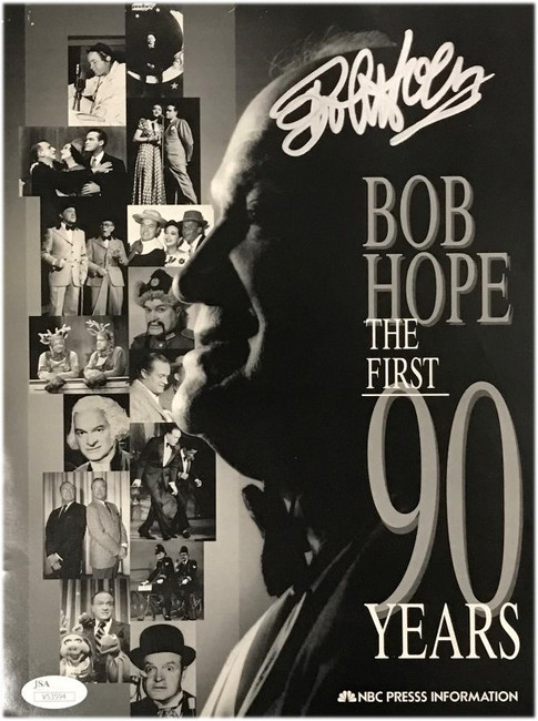 Bob Hope Signed Auto The Tonight Show The First 90 Years 8x10 Poster JSA V53594