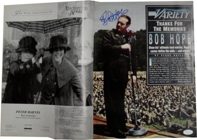 Bob Hope Signed Auto Tonight Show The First 90 Years Variety Magazine JSA V53594