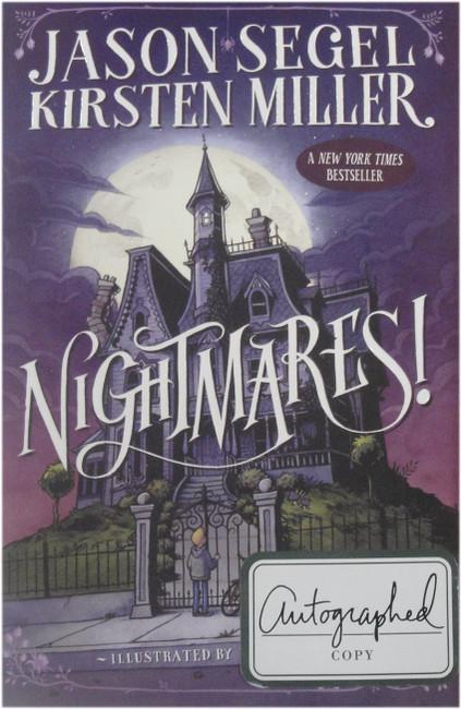 Jason Segel Hand Signed Autographed Book Nightmares Kirsten Miller JSA V53570
