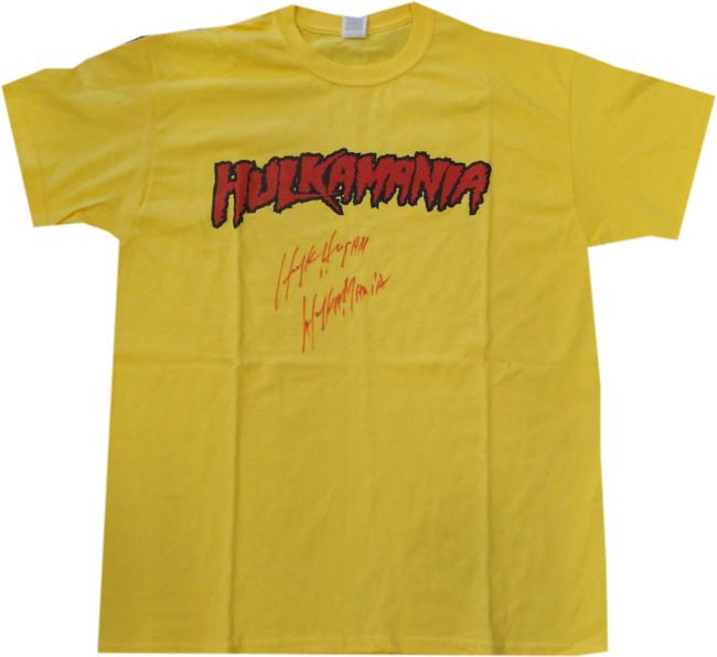 Hulk Hogan Hand Signed Autograph Shirt Custom Hulkamania Beckett BAS I57096