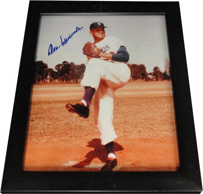 Don Newcombe Hand Signed Framed  8x10 Photo Brooklyn Dodgers COA