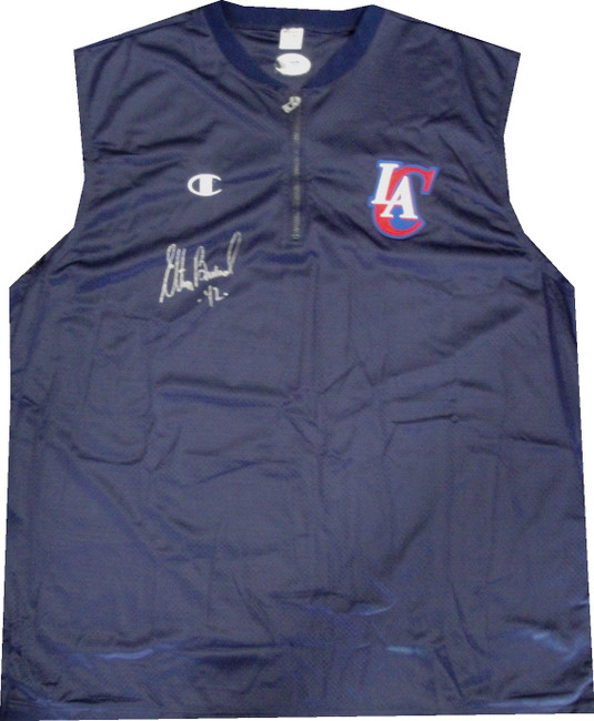 Elton Brand Hand Signed Autographed Clippers Shooting Shirt  XXXL Jersey PSA