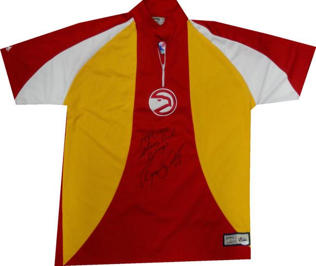 Dominique Wilkins Autograph Shooting Shirt Jersey Atlanta Hawks Dunk Champ JSA