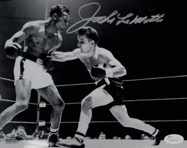 Jake LaMotta Hand Signed Autographed 8x10 Photo Raging Bull JSA La Motta