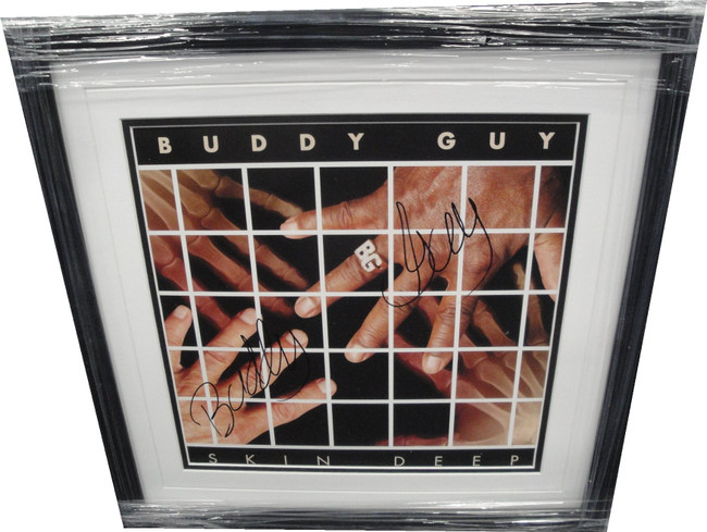 Buddy Guy Hand Signed Autographed Framed Skin Deep Record Blues Rock PSA