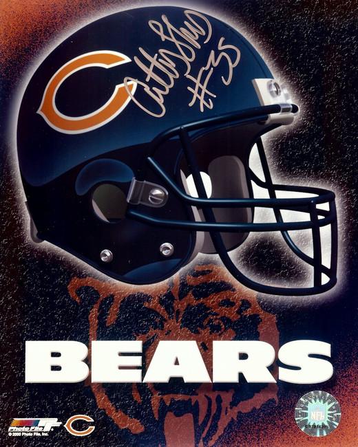 Anthony Thomas Signed Autographed 8X10 Photo Bears Helmet Logo Upper Silver COA
