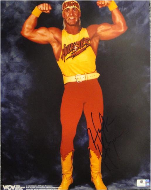 Hulk Hogan Hand Signed Autograph 11x14 Photo Sexy Flexing Posing JSA U16480