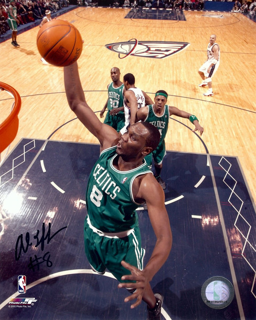 Al Jefferson Signed Autographed 8X10 Photo Celtics Road Dunk vs. Nets w/COA
