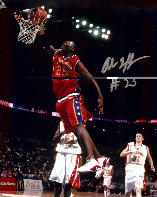 Al Jefferson Signed Autographed 8X10 Photo Celtics All-American Dunk w/COA