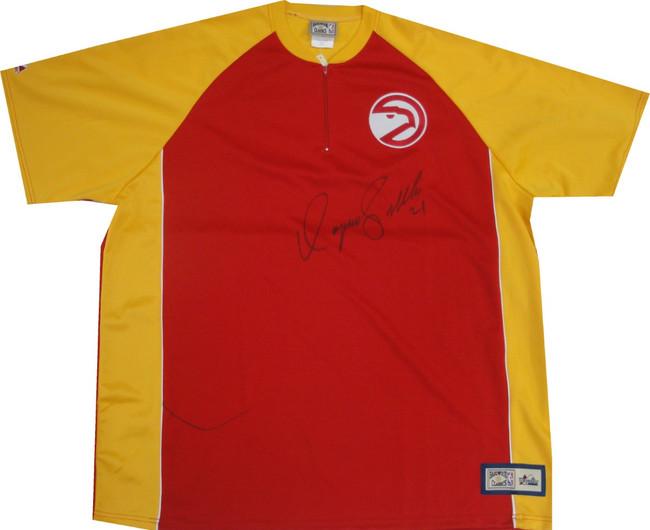 Dominique Wilkins Autograph Shooting Shirt Jersey Atlanta Hawks #21  JSA