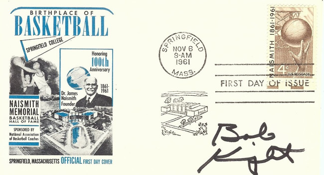 Bobby Knight Signed Autographed 1961 First Day Issue Cachet Legend JSA AA84558