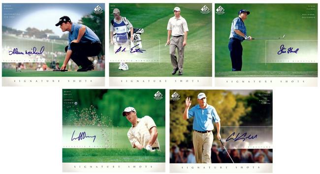 5 Card Lot Autographed 2004 SP Signature Shots 8X10s Oglivy Estes Upper Deck