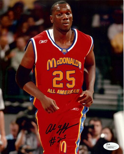 Al Jefferson Signed Autographed 8X10 Photo McDonalds All-American JSA AA84567