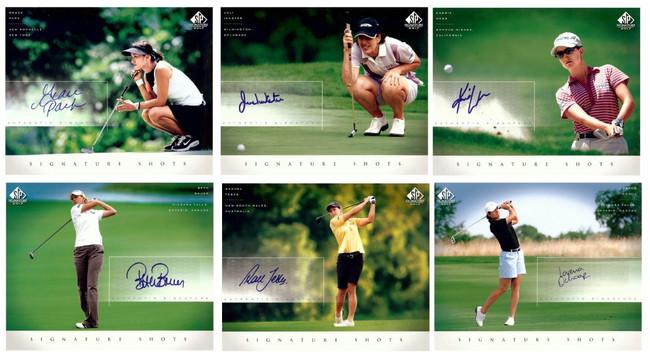 14 Card Lot Autographed 2004 SP Signature Shots 8X10s Park Inkster Pak Ochoa