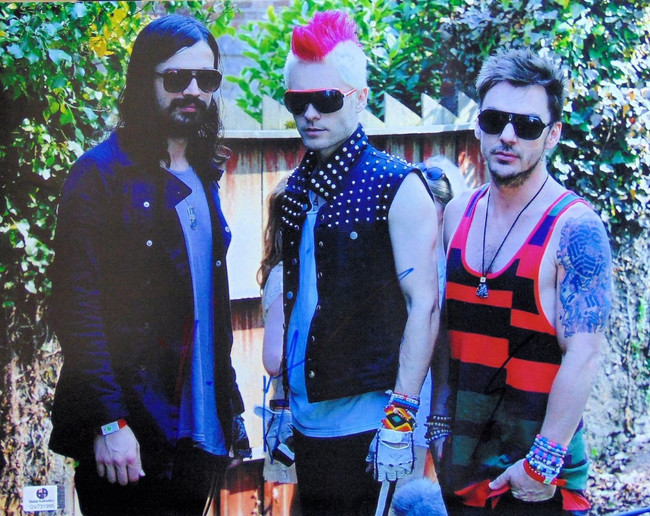 30 Seconds to Mars Band Signed Auto 11X14 Photo Jared Shannon Leto GV731995