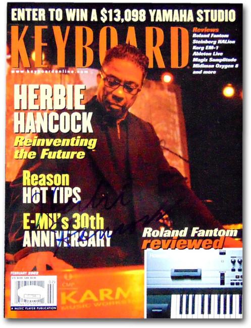 Herbie Hancock Signed Autographed Keyboard Magazine February 2002 JSA CC77044