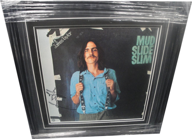 James Taylor Hand Signed Autographed Framed Record Mud Slide Slim JSA CC77013